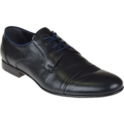 6f20fcd4e95521 Buty eleganckie męskie czarne Gino Vertucci jesienne sznurowane skórzane