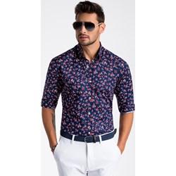 84f3d68e23e85c Koszula męska z długimi rękawami w abstrakcyjnym wzorze młodzieżowa