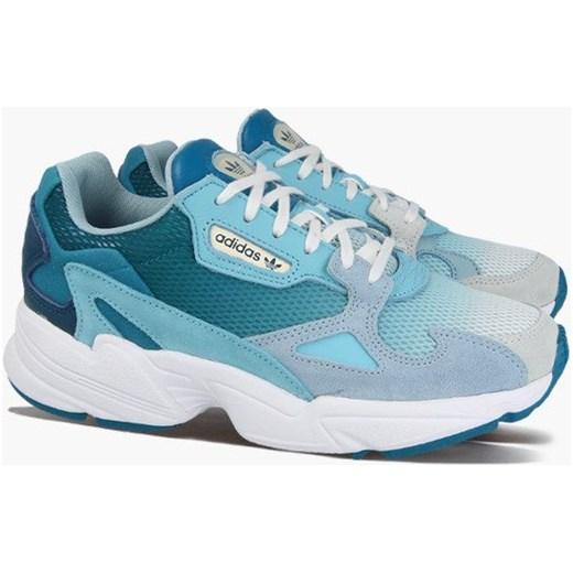 7c8f1e88 ... sznurowane płaskie; Niebieskie buty sportowe damskie Adidas Originals gładkie  sznurowane ...