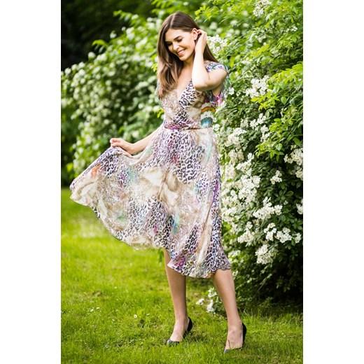 wylot Vissavi sukienka z długimi rękawami wielokolorowa na