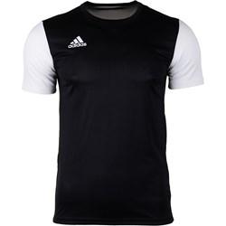 58dd95b74 T-shirt chłopięce Adidas z krótkim rękawem czarny bez wzorów