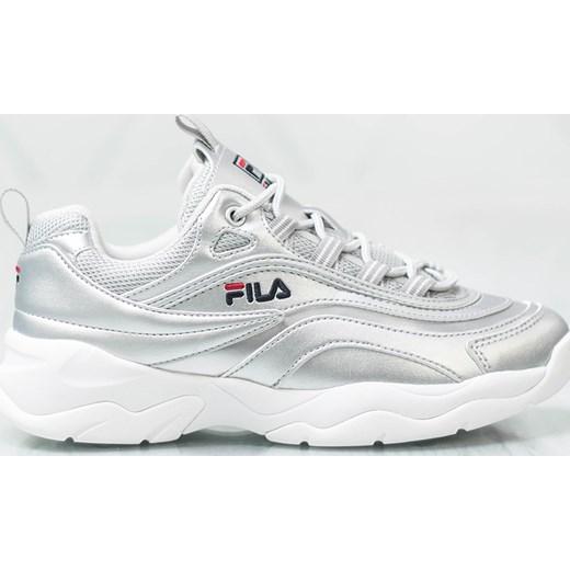 Sneakersy damskie Fila sportowe płaskie gładkie sznurowane