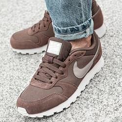 56335a83c Buty sportowe damskie Nike do biegania md runner gładkie na płaskiej  podeszwie sznurowane skórzane