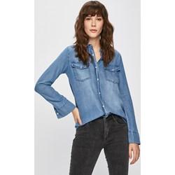 0a870ae1877126 Koszula damska Answear niebieska z lyocellu casual z długimi rękawami z  kołnierzykiem