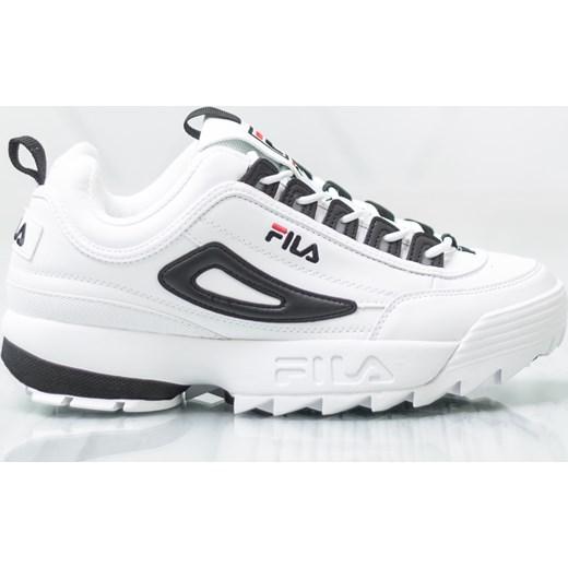 Buty sportowe męskie Fila białe sznurowane na wiosnę www