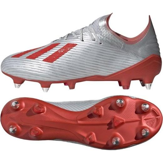 Buty sportowe męskie Adidas na wiosnę srebrne sznurowane