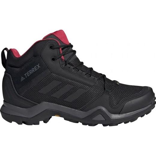 Buty trekkingowe damskie Adidas czarne sportowe gładkie Buty
