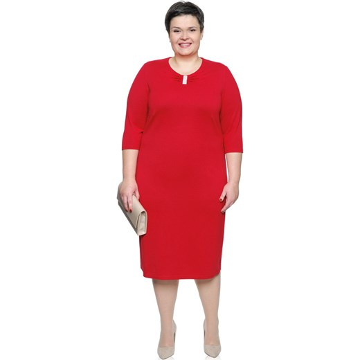 szyk Sukienka wyszczuplająca Odzież Damska DJ czerwony