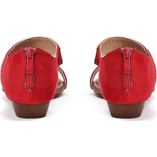 84cf5a84 ... Czerwone sandały na niskiej koturnie Acellia - Obuwie Royalfashion.pl  40 ...