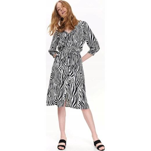 4fb45958c14915 Top Secret Sukienka Damska W Modny Zwierzęcy Nadru Top Secret 40 (L) SMA Top