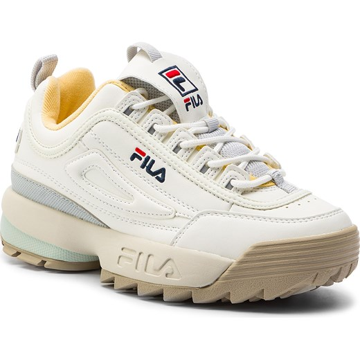 tani Sneakersy damskie białe Fila na platformie z tworzywa