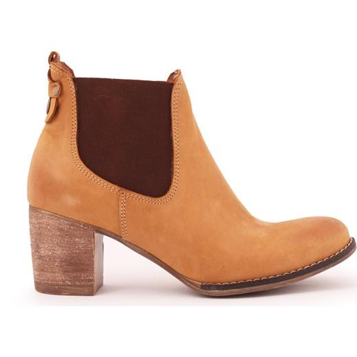 4a3d5ec3 botki - skóra naturalna - model 455 - kolor piaskowy outlet Zapato  promocyjna cena zapato. ...
