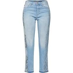 83584761409b07 Damskie czarne spodnie jeansowe z prostą nogawką wysokim stanem ...