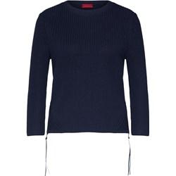 1c163dd2d8a9d3 Sweter damski Hugo Boss z okrągłym dekoltem z dzianiny