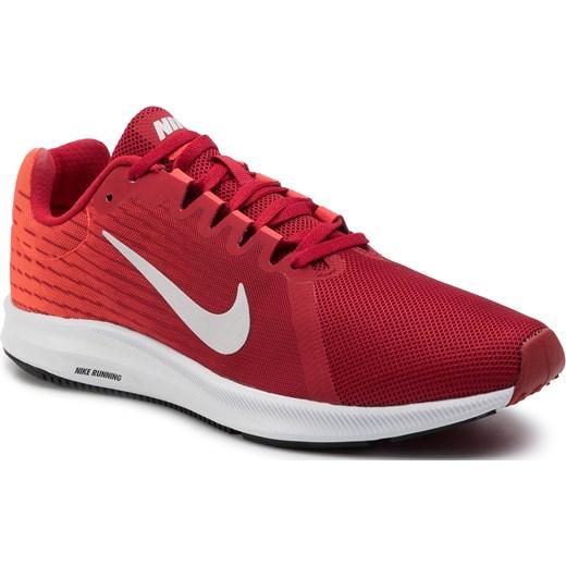 Buty sportowe męskie Nike downshifter czerwone z tworzywa
