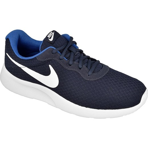 informacje o wersji na zakupy świetne oferty Buty sportowe męskie niebieskie Nike tanjun sznurowane