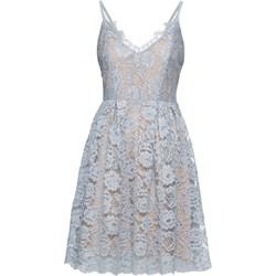 bb9ba327657297 Sukienka Bonprix szara z odkrytymi ramionami koronkowa