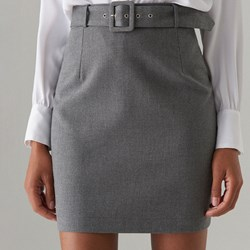 9c1fcaa6 Spódnica Mohito szara bez wzorów elegancka midi