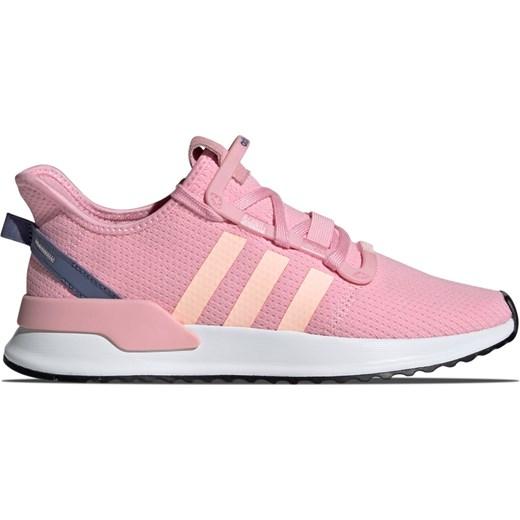 Buty sportowe damskie różowe Adidas Originals sznurowane płaskie na wiosnę bez wzorów