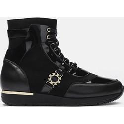 584fcd49c887ed Sneakersy damskie Kazar na wiosnę gładkie sportowe sznurowane na platformie  skórzane