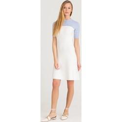 a8a6ac4ab43ad3 Sukienka Sportmax Code z okrągłym dekoltem mini z krótkim rękawem