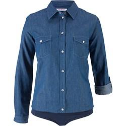 c26fc526a95752 Koszula damska Bonprix casual bez wzorów z długim rękawem
