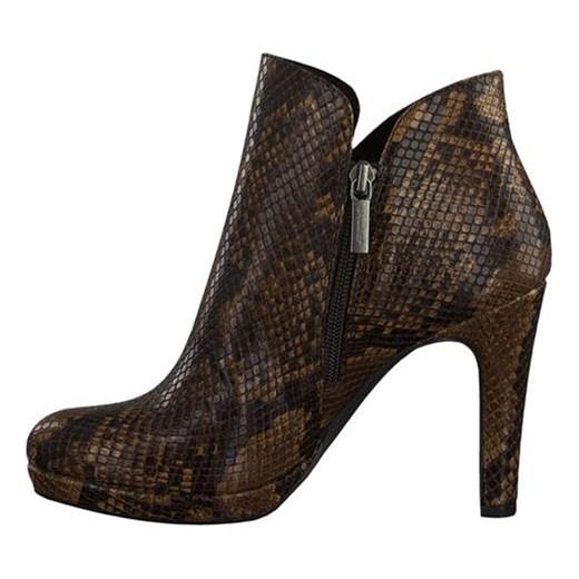nowy Brązowe botki Tamaris ze skÓry w stylu casual Buty