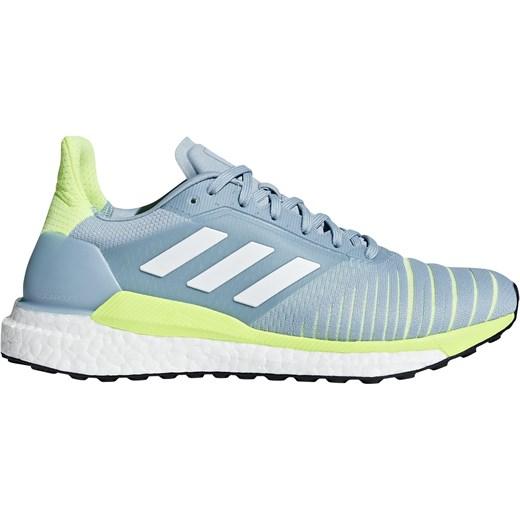 Buty sportowe damskie Adidas do biegania gładkie sznurowane na płaskiej podeszwie