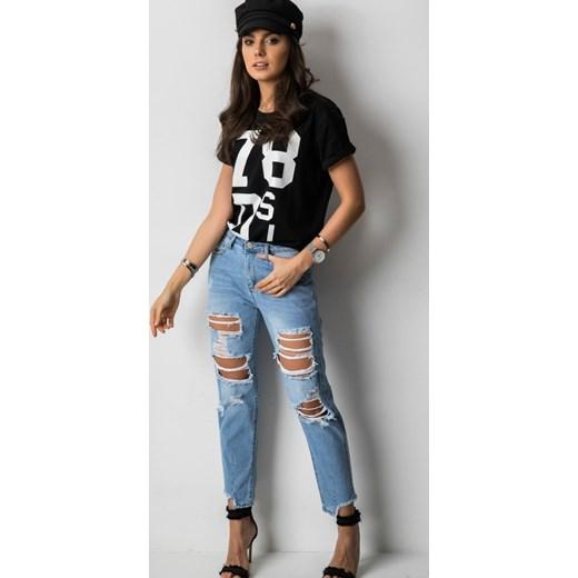 Fashion Manufacturer jeansy damskie bez wzorów Odzież Damska OI niebieski Jeansy damskie KHZH 70% ZNIŻKI
