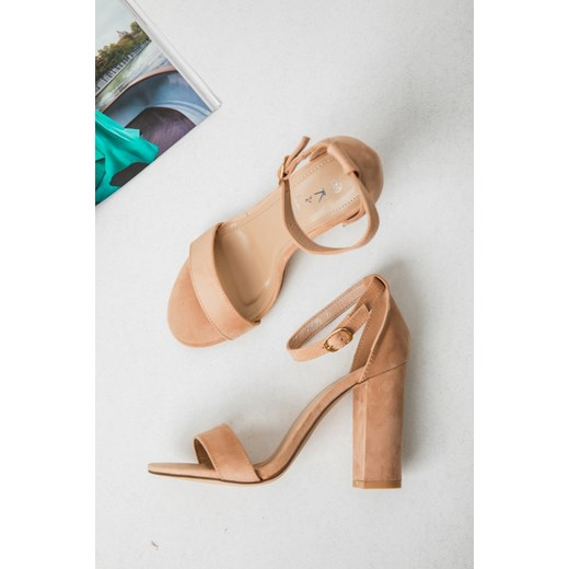 Sandały damskie Fashion Manufacturer - Lorenzo Buty Damskie ZU beżowy Sandały damskie WEFU