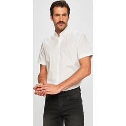 0796806ee Koszula męska Lacoste biała casual z długim rękawem z kołnierzykiem button  down