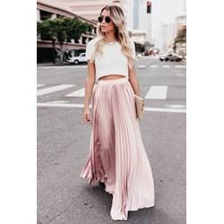 1ccb3599 Plisowana spódnica maxi Potis & Verso TEPLA bezowy Eye For Fashion w ...