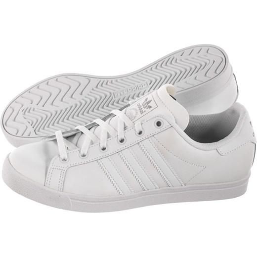 Trampki damskie Adidas na wiosnę skórzane sportowe białe sznurowane