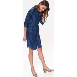 69c0437667279d Sukienka Top Secret bez wzorów z długim rękawem koszulowa