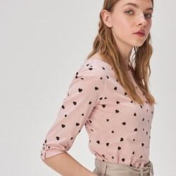 622b5286 Różowa bluzka damska Sinsay z okrągłym dekoltem