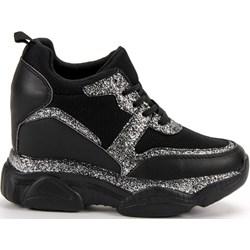 d9eba1f4 Sneakersy damskie Buty Vices czarne ze skóry ekologicznej bez wzorów na  wiosnę