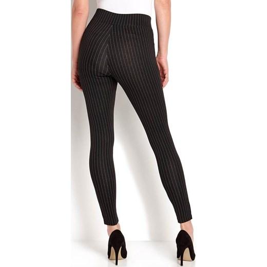 80% ZNIŻKI Leginsy Happy Holly w kratkę jerseyowe Odzież Damska FZ czarny Leginsy ZIUI
