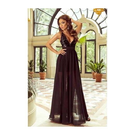 d0dc3b38 Sukienka maxi na bal bez rękawów na karnawał w stylu glamour