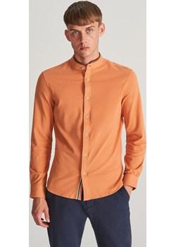 Reserved - Koszula slim ze stójką - Żółty  Reserved  - kod rabatowy