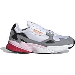dobrze znany sklep w Wielkiej Brytanii Cena fabryczna Buty sportowe damskie Adidas do fitnessu sznurowane zamszowe płaskie bez  wzorów
