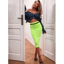 d401c59d Spódnica Selfieroom zielona w stylu młodzieżowym z elastanu