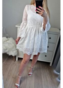 Elegancka sukienka FLAWLESS biała (S/M)   okazyjna cena MON BOUTIQUE  - kod rabatowy