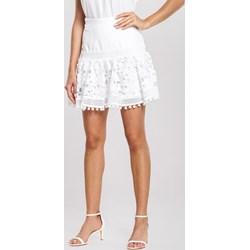ec61ace3 Spódnica Renee biała mini z koronką