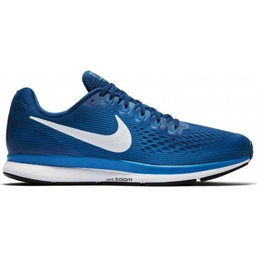 Buty sportowe męskie Nike pegasus niebieskie z gumy wiązane