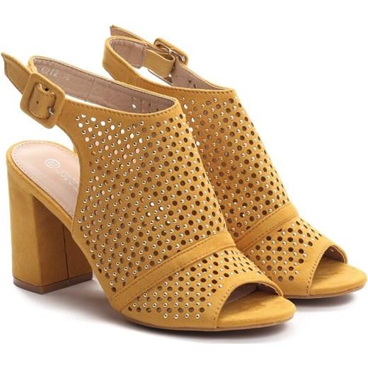 7fdbc0d2fad6c3 ... Renee sandały damskie z klamrą eleganckie na wysokim obcasie na słupku  ...