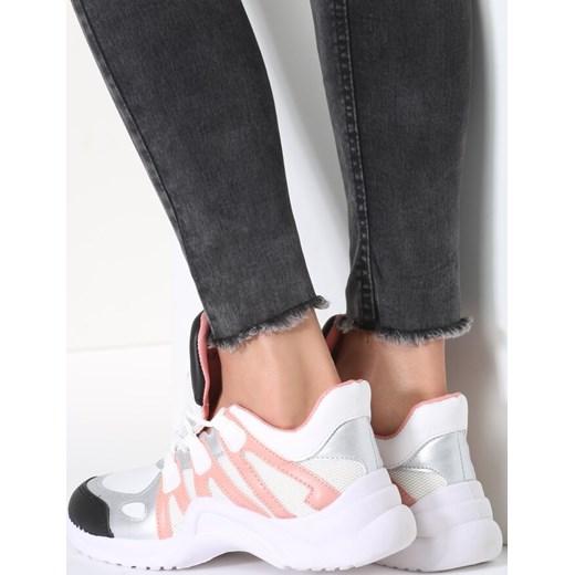 najlepszy Biało Różowe Buty Sportowe Life Must Go On Renee