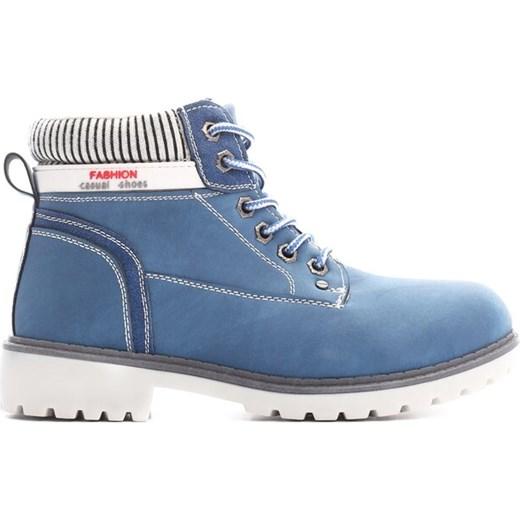 Granatowe Traperki Fashion Casual niebieski Renee renee.pl