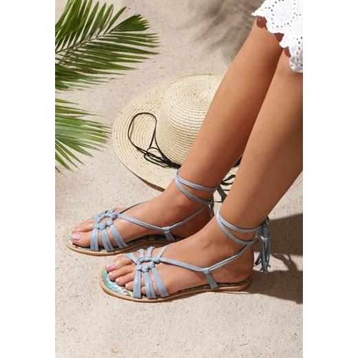 Niebieskie Sandały Petite Fleur Renee renee.pl Buty Damskie NZ niebieski Sandały damskie PPFJ
