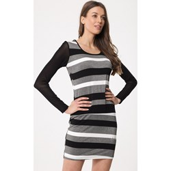 e68a39c2d5e6d0 Sukienka Born2be mini dopasowana z długim rękawem