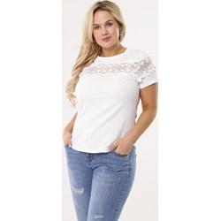 5f6c1299 Bluzka damska Born2be biała z krótkimi rękawami